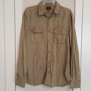 Converse military style button down shirt